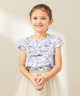 any FAM KIDS 【80‐130cm】花柄プリントTシャツ ネイビー系5