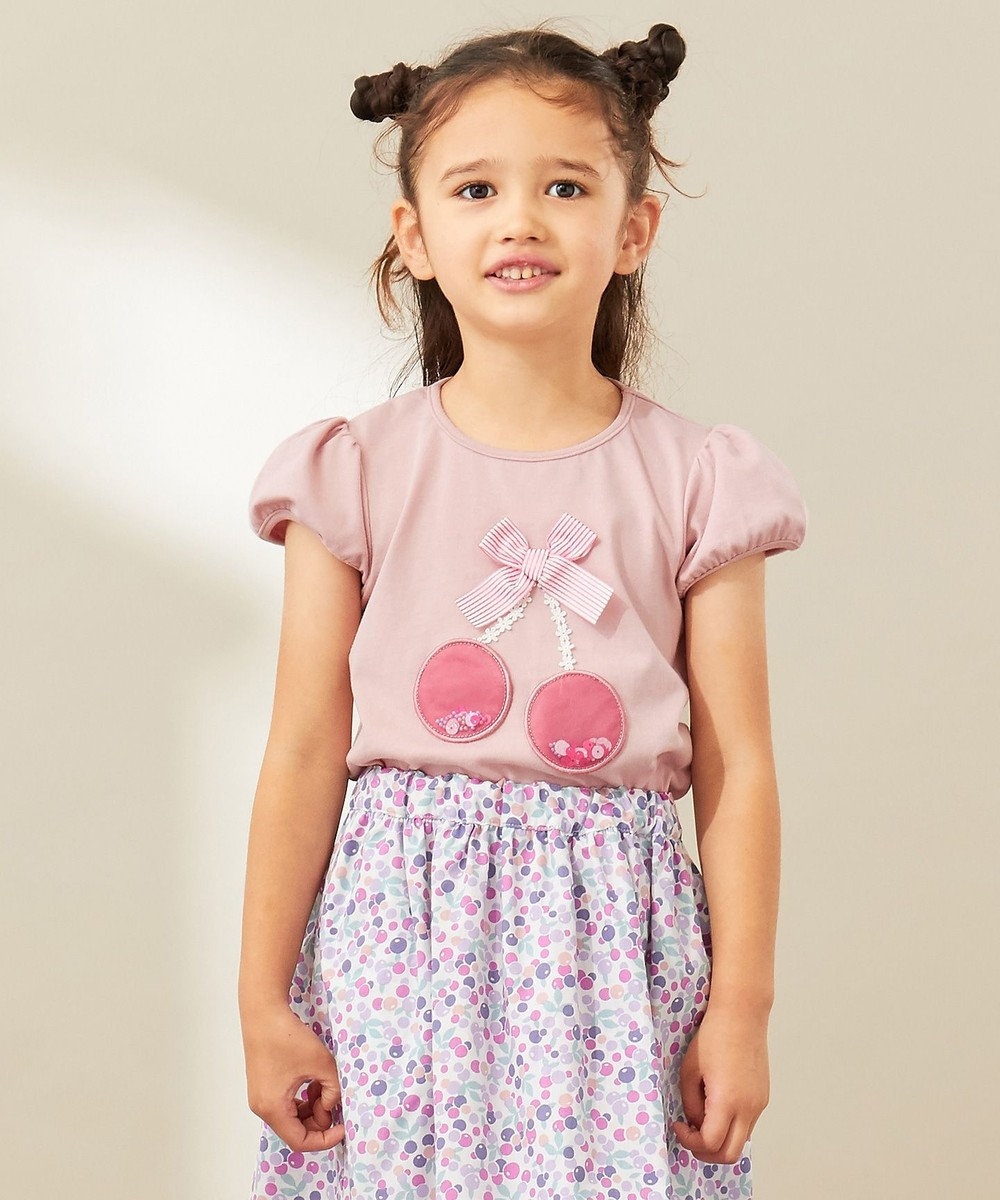 any FAM KIDS 【100‐130cm】チェリーモチーフ 半袖Tシャツ ピンク系