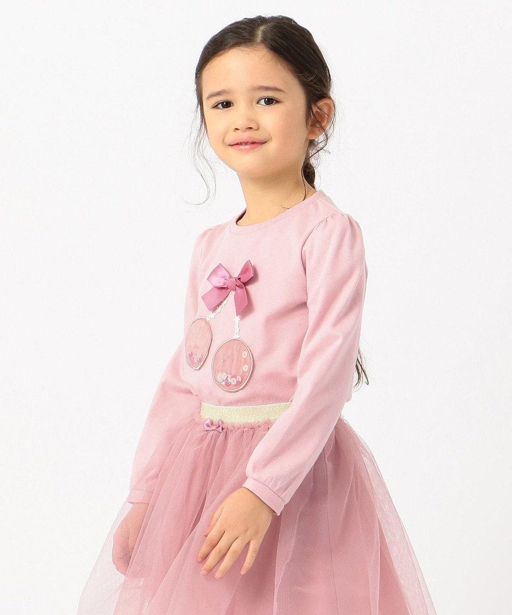 any FAM KIDS 【80-130cm】チェリーアップリケ プルオーバー ピンク系