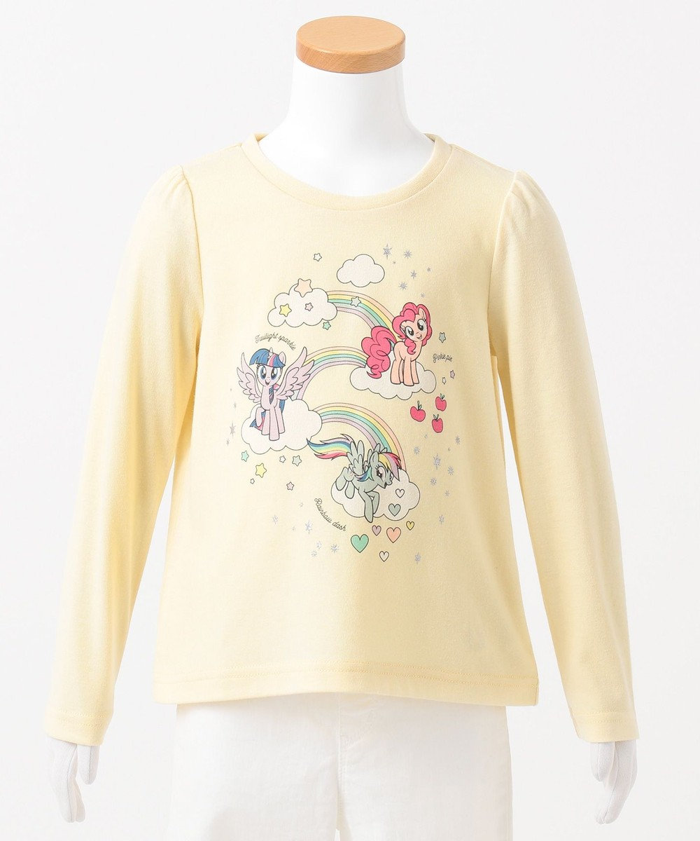 any FAM KIDS 【80-130cm】マイリトルポニー レインボー Tシャツ イエロー系