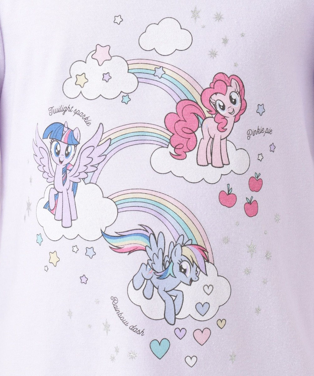 any FAM KIDS 【80-130cm】マイリトルポニー レインボー Tシャツ ラベンダー系