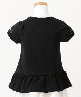 any FAM KIDS 【KIDS】ぺプラム ねこ袖 Tシャツ ブラック系