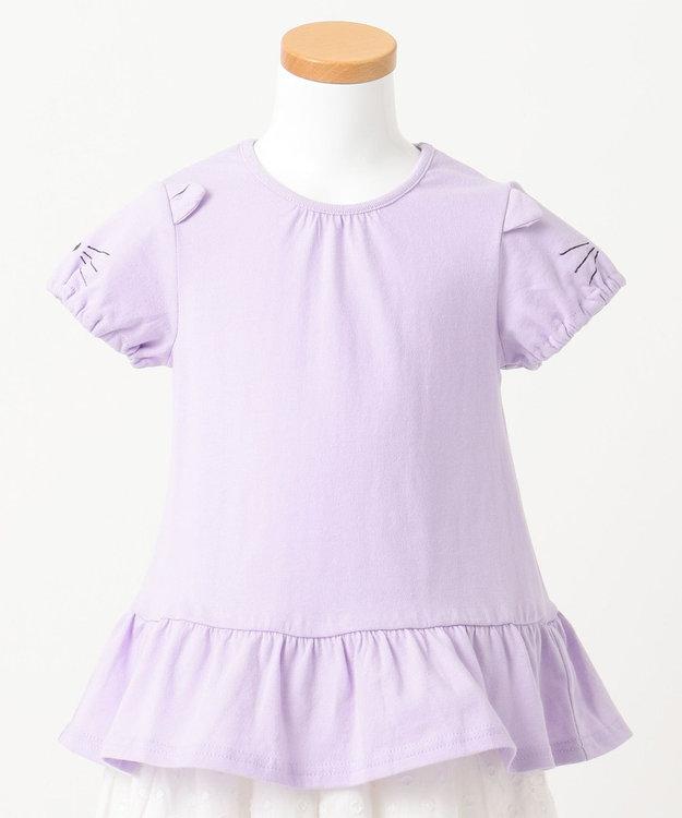 any FAM KIDS 【KIDS】ぺプラム ねこ袖 Tシャツ