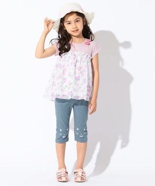 any FAM KIDS 【KIDS】シフォン花柄プリント 接触冷感 Tシャツ ピンク系6