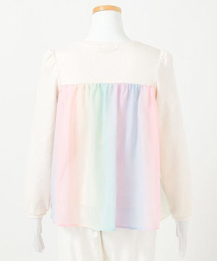 any FAM KIDS 【140-150cm】前後差有り AラインTシャツ アイボリー系