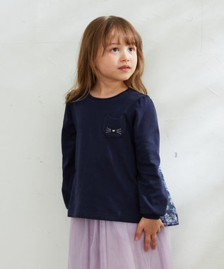 any FAM KIDS 【140-150cm】前後差有り AラインTシャツ ネイビー系
