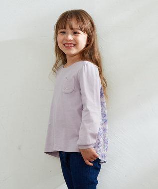 any FAM KIDS 【140-150cm】前後差有り AラインTシャツ ライラック系
