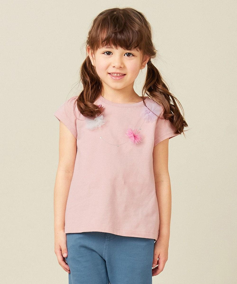any FAM KIDS 【140-150cm】ネックレス風モチーフ 半袖Tシャツ ピンク系