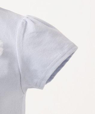any FAM KIDS 【140-150cm】ネックレス風モチーフ 半袖Tシャツ サックスブルー系