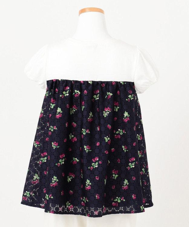 any FAM KIDS 【140cm】いちごプリントドッキング Tシャツ