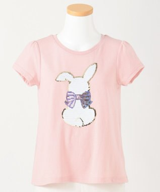 any FAM KIDS 【140-150cm】ミラクルスパンコール 半袖Tシャツ ピンク系