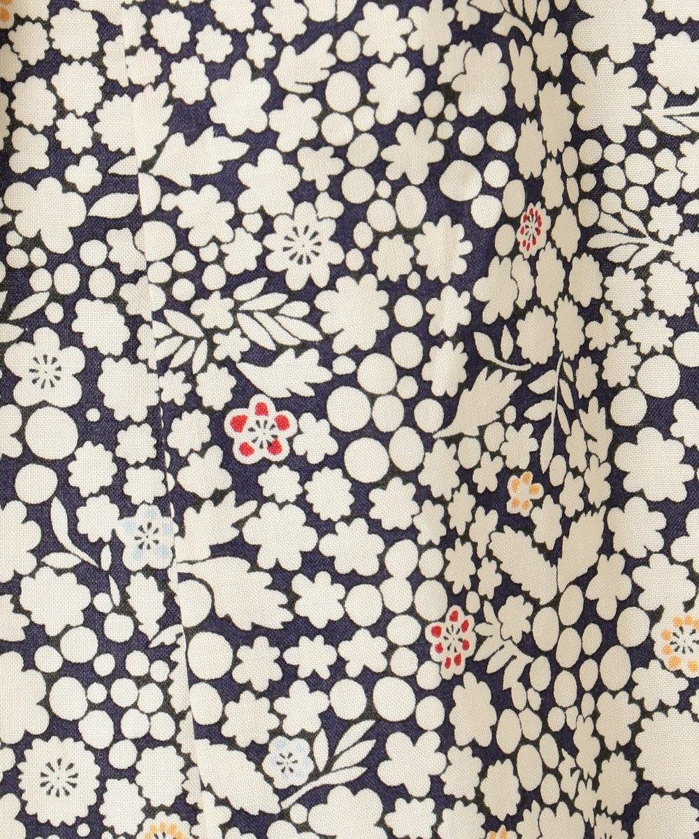 any FAM KIDS 【親子でお揃い/140-150cm】LIBERTY プリントフレアTシャツ ネイビー系3