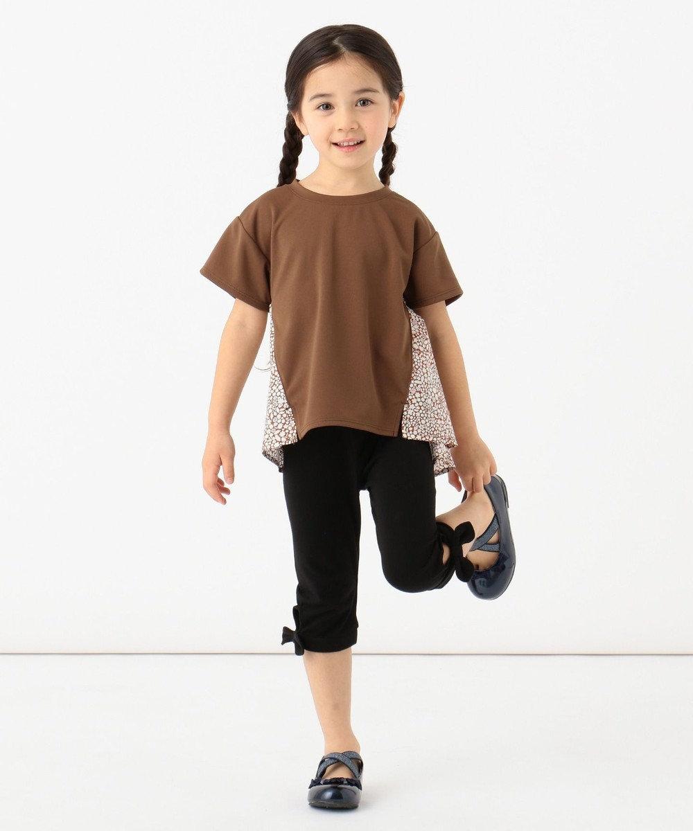 any FAM KIDS 【親子でお揃い/140-150cm】LIBERTY プリントフレアTシャツ ブラウン系3
