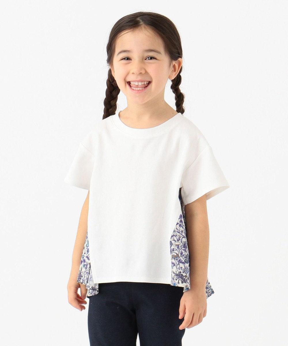 any FAM KIDS 【親子でお揃い/140-150cm】LIBERTY プリントフレアTシャツ ネイビー系5