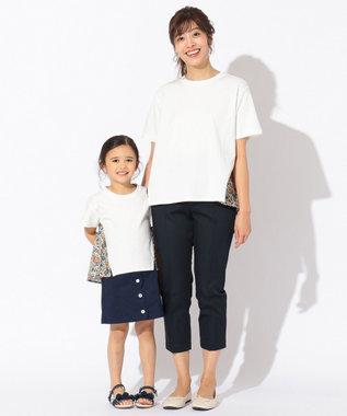 any FAM KIDS 【親子でお揃い/140-150cm】LIBERTY プリントフレアTシャツ アイボリー系5
