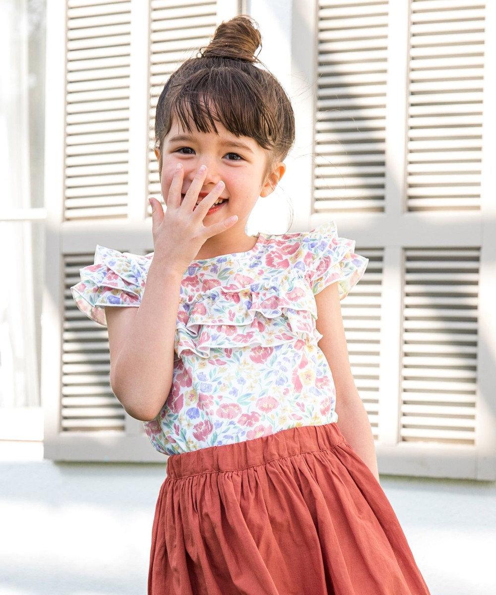 any FAM KIDS 【140-150cm】花柄プリントTシャツ ピンク系5