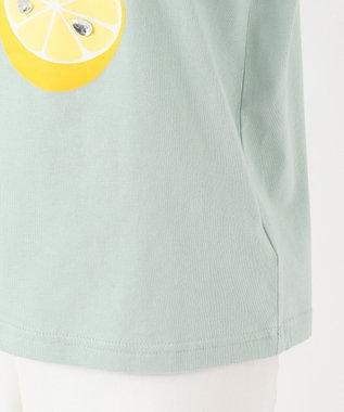 any FAM KIDS 【140‐150cm/接触冷感】フリル刺繍フルーツ Tシャツ ライトグリーン系