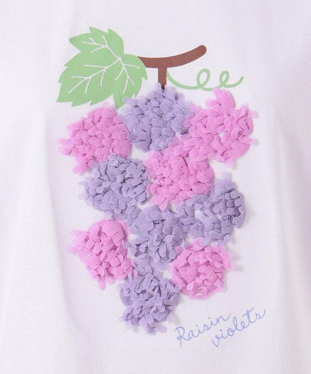 any FAM KIDS 【140‐150cm/接触冷感】フリル刺繍フルーツ Tシャツ