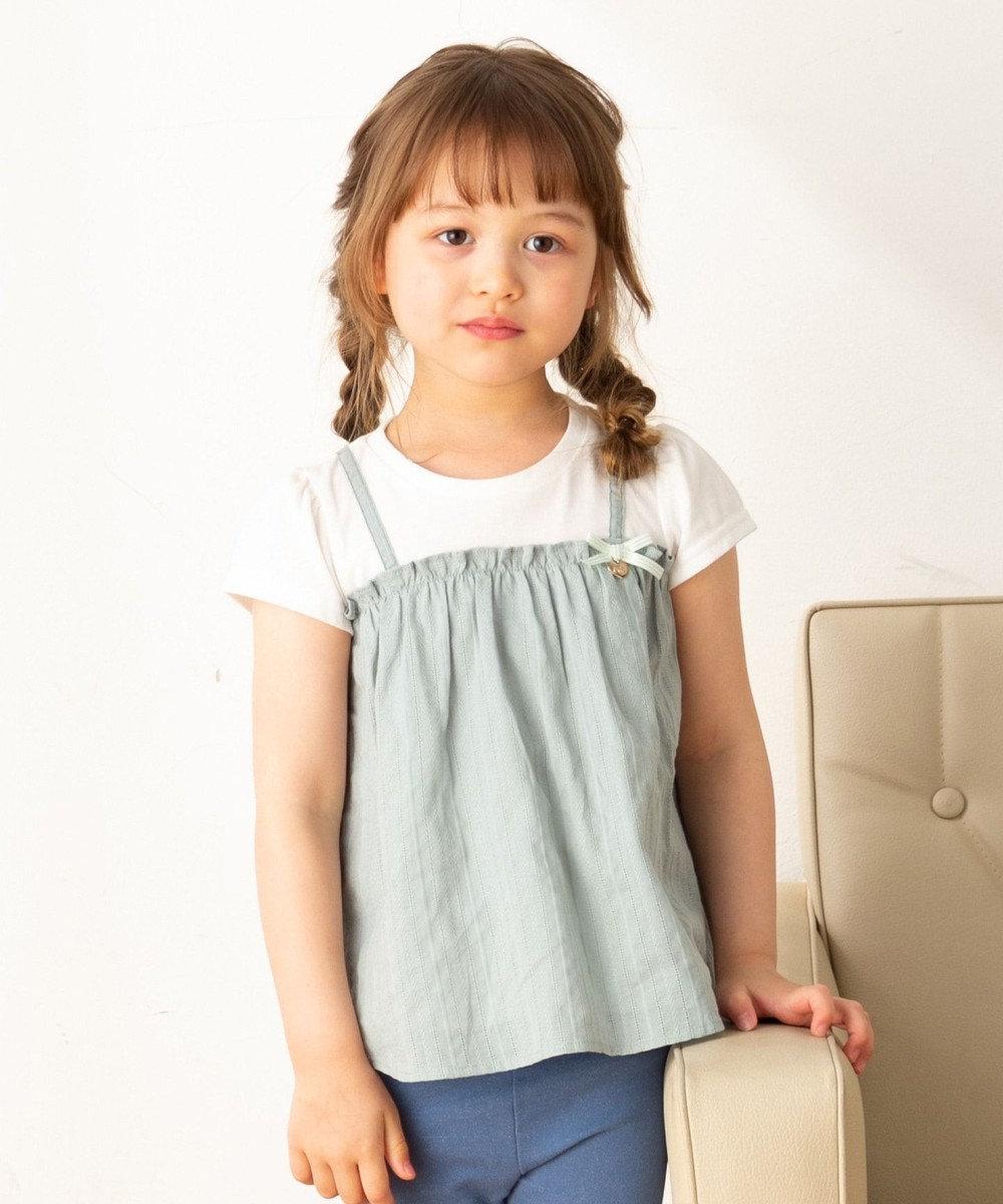 any FAM KIDS 【140-150cm】キャミソールドッキング Tシャツ スモーキーグリーン系