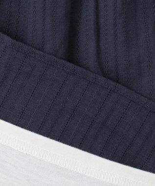 any FAM KIDS 【140-150cm】キャミソールドッキング Tシャツ ネイビー系