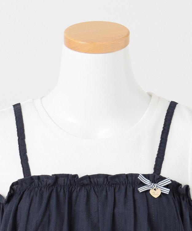 any FAM KIDS 【140-150cm】キャミソールドッキング Tシャツ