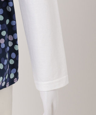 any FAM KIDS 【姉妹でお揃い/140~150cm】ドッキングプリント 長袖カットソー ネイビー系5
