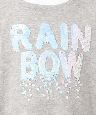 any FAM KIDS 【140-150cm】ミラクルスパンコール スムース Tシャツ グレー系