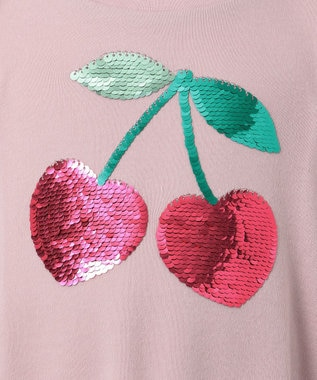any FAM KIDS 【140-150cm】ミラクルスパンコール スムース Tシャツ ピンク系