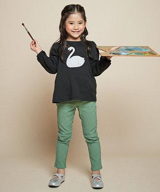 any FAM KIDS 【140-150cm】ミラクルスパンコール スムース Tシャツ ブラック系