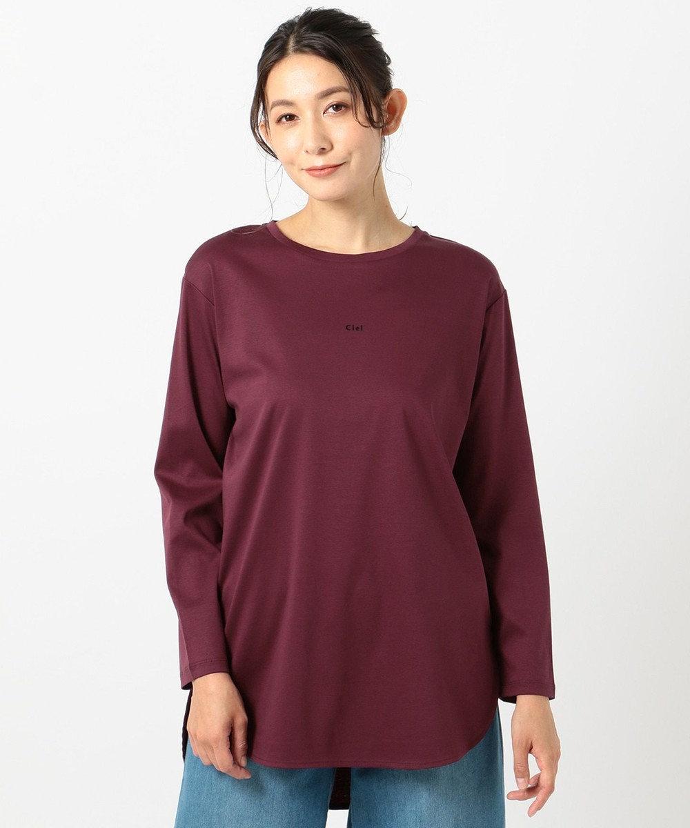 any FAM L シルケットスムースロゴ ロングTシャツ レッド系