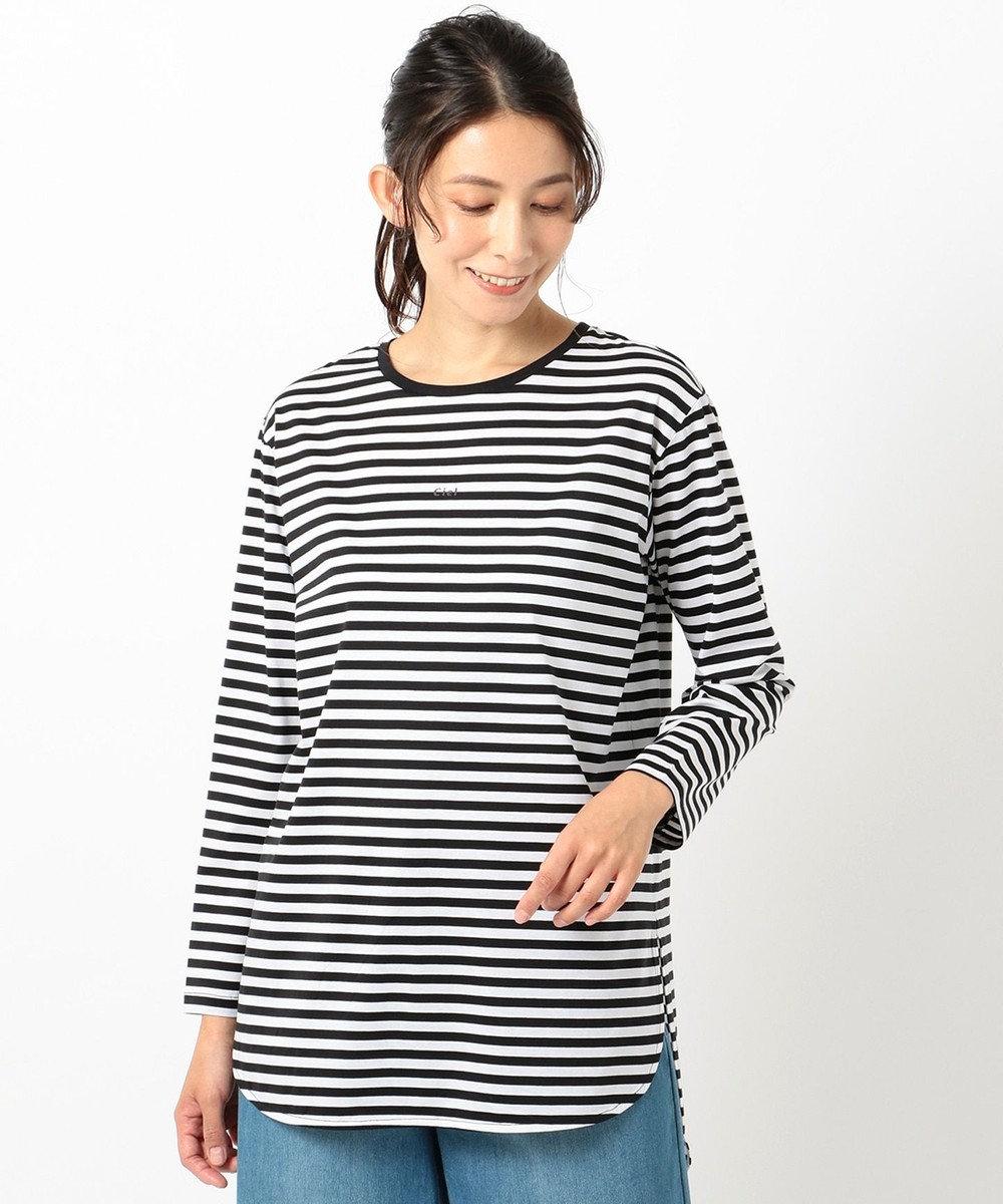 any FAM L シルケットスムースロゴ ロングTシャツ ブラック系1