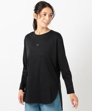 any FAM L シルケットスムースロゴ ロングTシャツ ブラック系