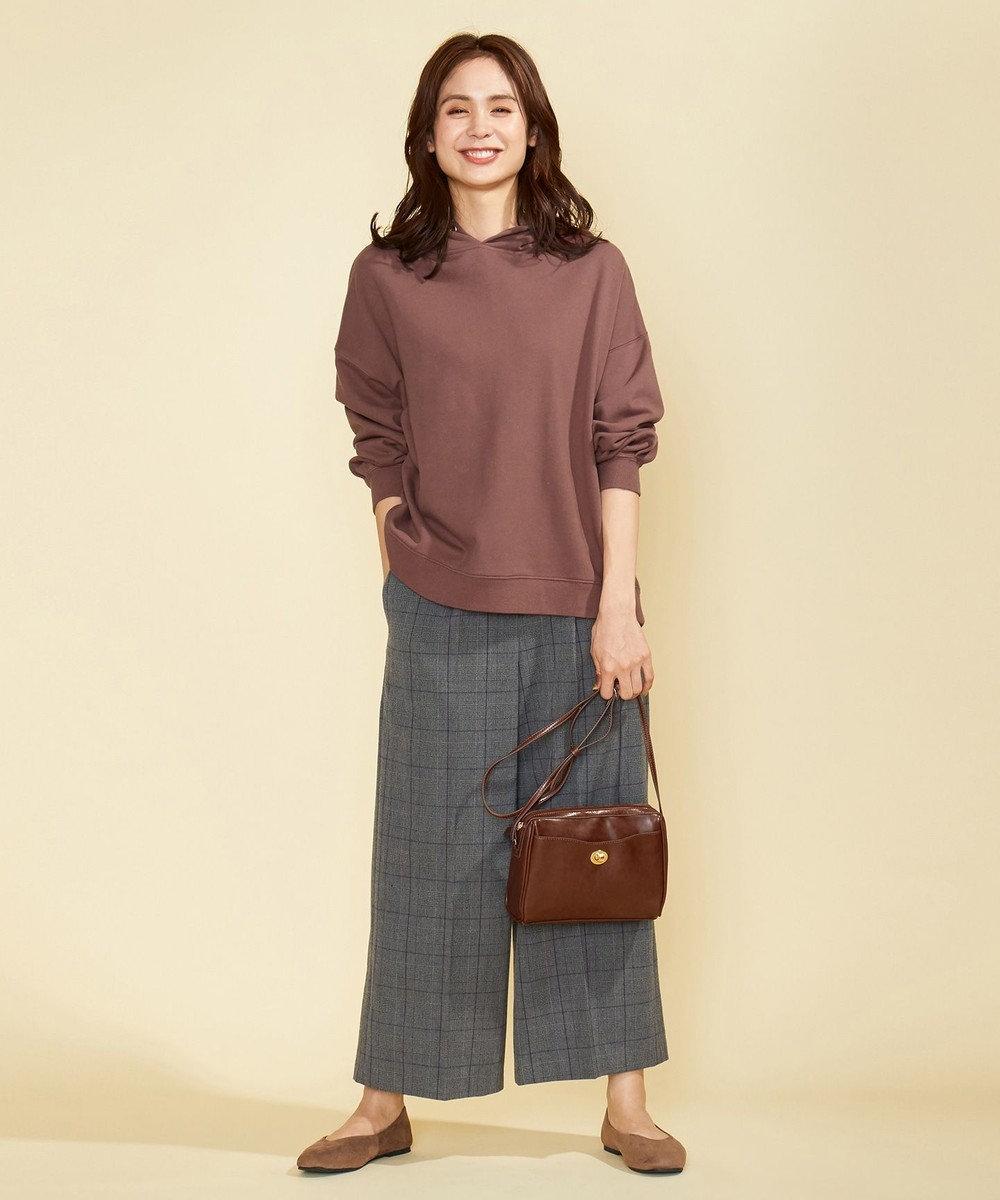 any FAM 【オーガニックコットン】オーガビッツ裏毛 パーカー ピンク系