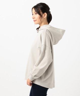 any FAM 【オーガニックコットン】オーガビッツ裏毛 パーカー ライトグレー系