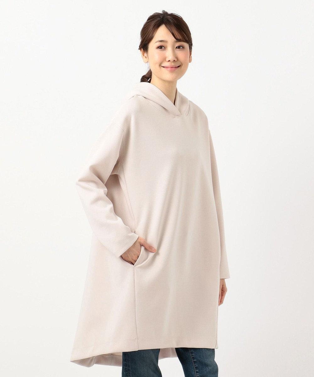 any FAM L 【洗える】サイロダンボールチュニック パーカー ピンク系
