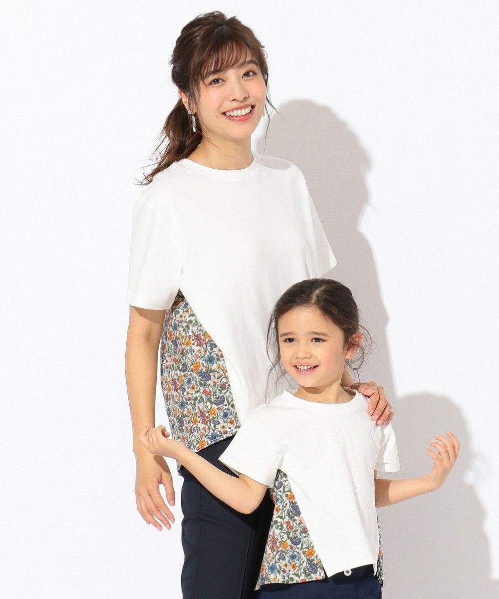 any FAM 【親子でお揃い】リバティプリントフレア Tシャツ アイボリー系5