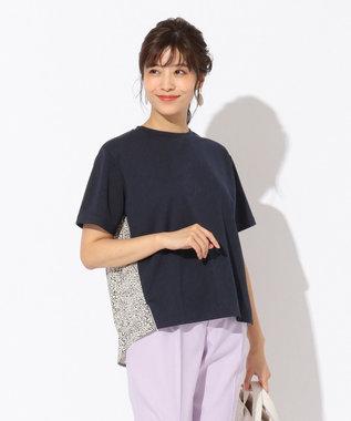 any FAM 【親子でお揃い】リバティプリントフレア Tシャツ ネイビー系3