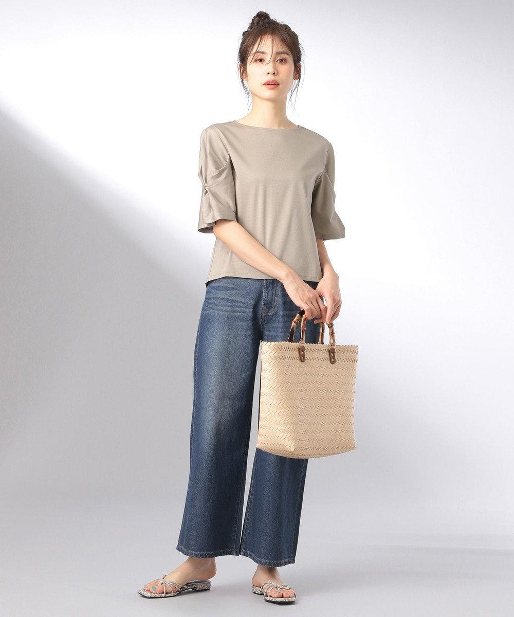 any FAM 【大人気のため追加生産決定!】シルケットスムース カットソー ベージュ系
