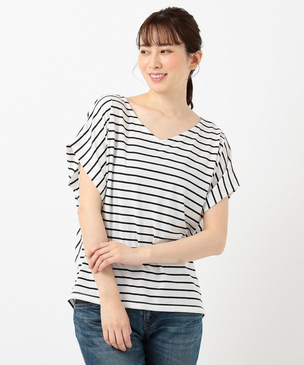any FAM 【大ヒット商品】【UVケア・接触冷感】Tブラウス Tシャツ アイボリー系1