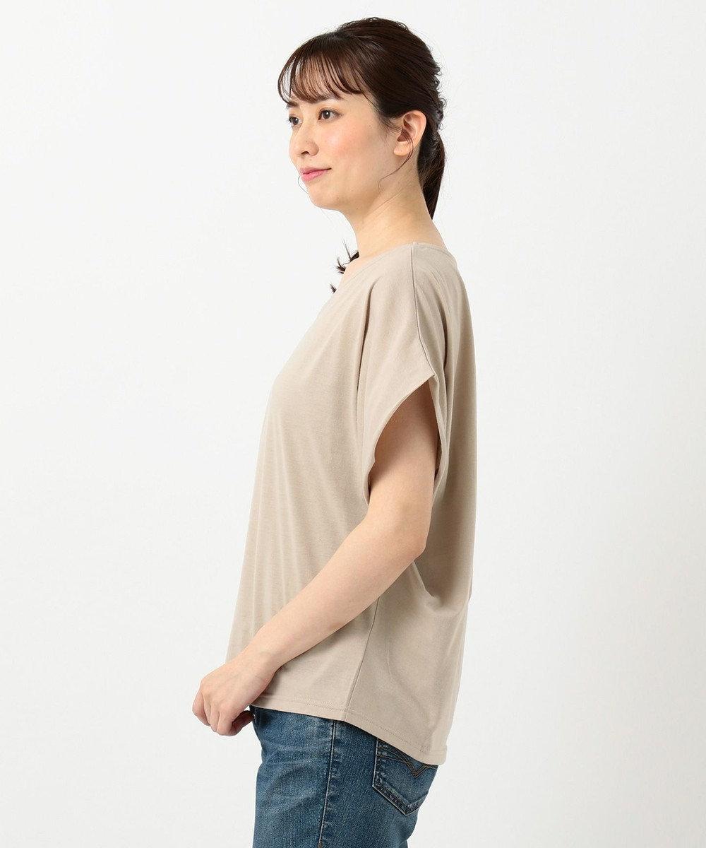 any FAM 【大ヒット商品】【UVケア・接触冷感】Tブラウス Tシャツ ベージュ系