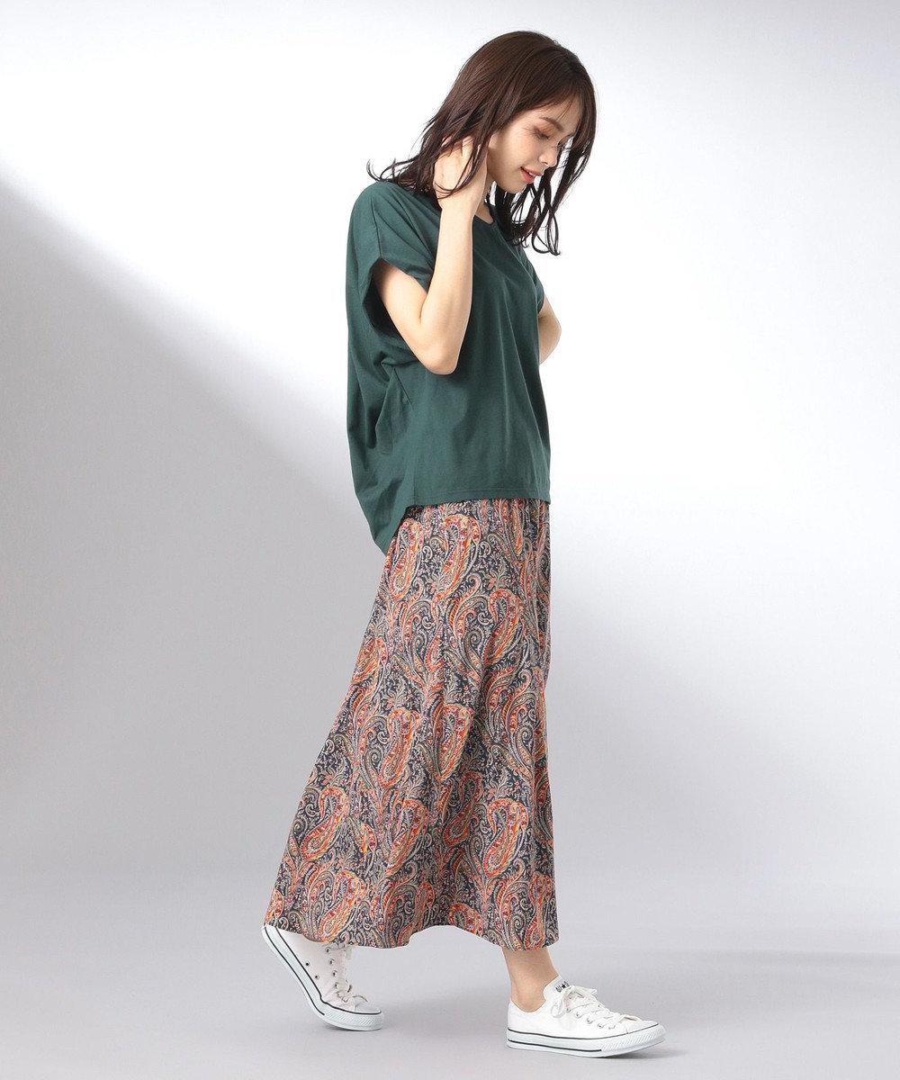 any FAM 【大ヒット商品】【UVケア・接触冷感】Tブラウス Tシャツ グリーン系