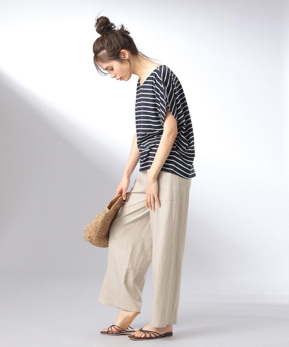 any FAM 【大ヒット商品】【UVケア・接触冷感】Tブラウス Tシャツ ネイビー系1