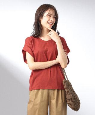 any FAM 【大ヒット商品】【UVケア・接触冷感】Tブラウス Tシャツ オールドローズ系