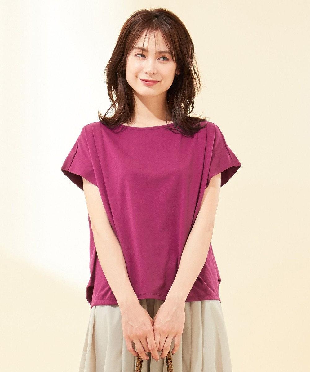 any FAM 【UVケア・接触冷感】TフレアブラウスII Tシャツ オールドローズ系