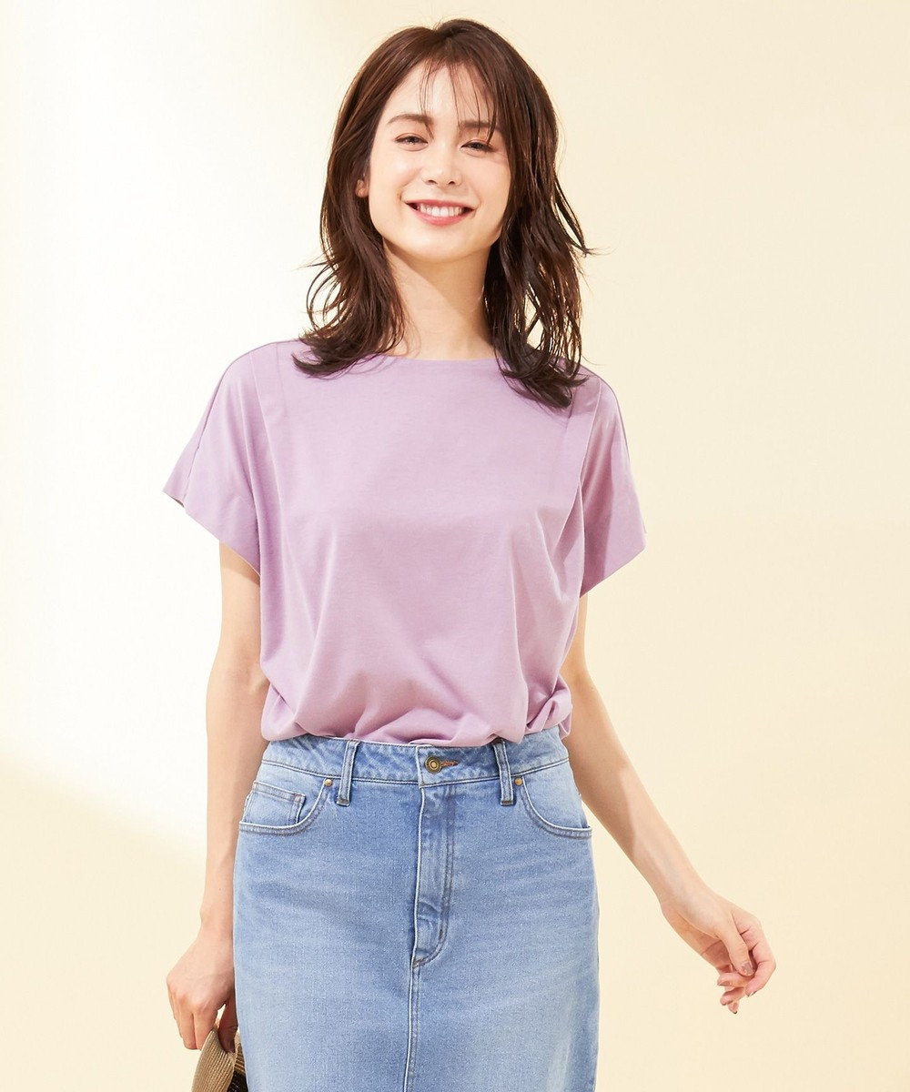 any FAM 【UVケア・接触冷感】TフレアブラウスII Tシャツ ライラック系