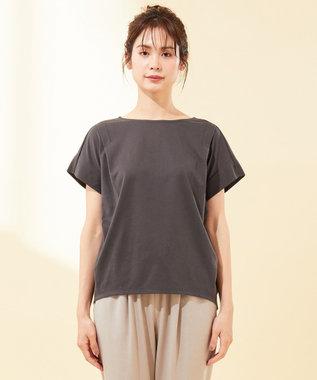 any FAM 【UVケア・接触冷感】TフレアブラウスII Tシャツ グレー系