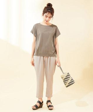any FAM 【UVケア・接触冷感】TフレアブラウスII Tシャツ ブラウン系