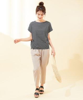 any FAM 【UVケア・接触冷感】TフレアブラウスII Tシャツ ブラック系1