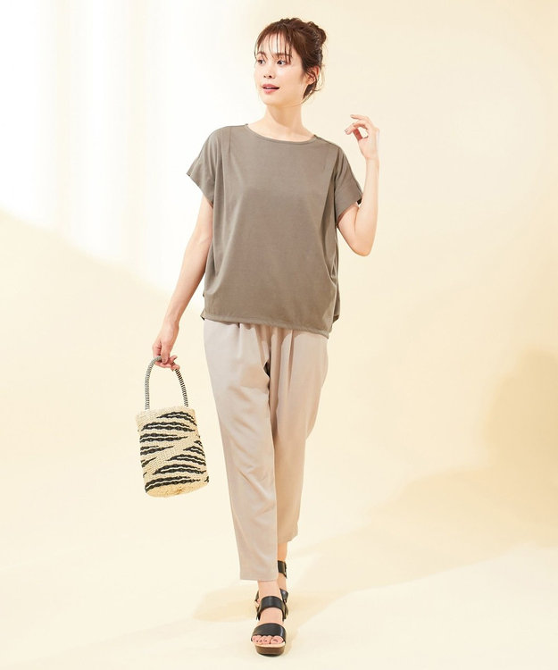 any FAM 【UVケア・接触冷感】TフレアブラウスII Tシャツ