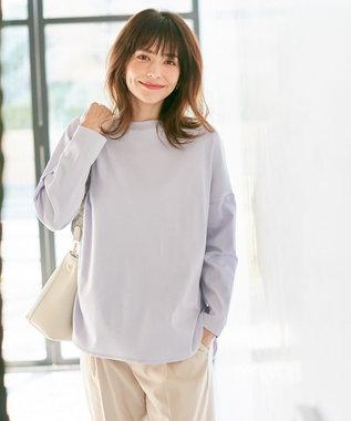 any FAM 【定番人気】プレミアムベーシック ロングTシャツ ラベンダー